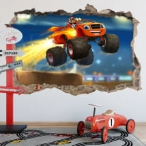 Autocollants blaze and the monster machines 3d