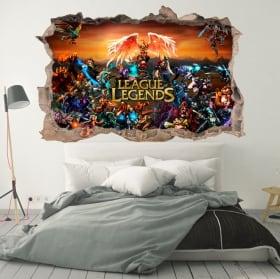 Vinyles décoratifs league of legends modèle 3d