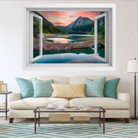 Vinyles décoratifs fenêtre 3d lac el pont de suert