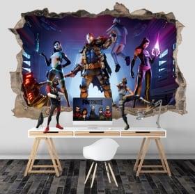 Vinyles mur de trou jeu vidéo fortnite x-force 3d