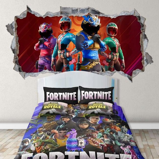 Vinyles décoratifs des murs jeu vidéo fortnite 3d