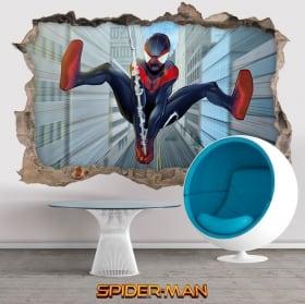 Vinyles et autocollants 3d miles morales spider-man