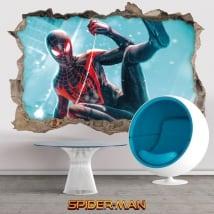 Vinyles décoratifs 3d miles morales spider-man