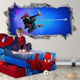 Vinyles troués 3d miles morales spider-man