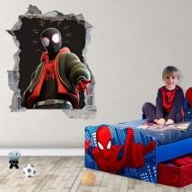 Vinyle adhésif miles morales spider-man 3d