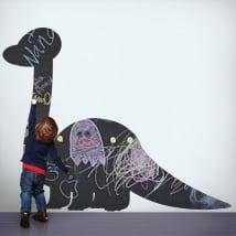Vinyles tableau noir dinosaure