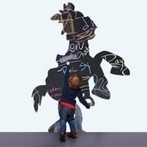 Vinyles tableau noir cheval toy story