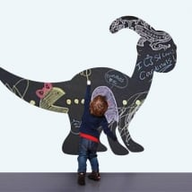 Vinyles pour enfants tableau noir dinosaure
