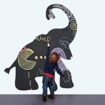 Vinyles pour enfants tableau noir l'éléphant
