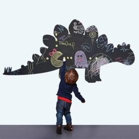 Vinyles décoratifs pour enfants tableau noir dinosaure