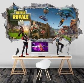 Vinyles mur de trou battle royale fortnite 3d