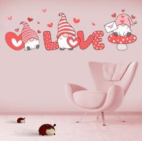 Vinyles et autocollants romantiques gnome love