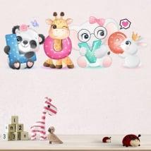 Vinyle et stickers muraux les animaux love