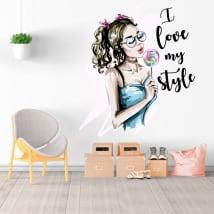 Vinyles décoratifs silhouette femme i love my style