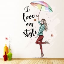 Vinyle silhouette femme i love my style