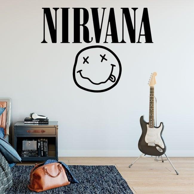 Vinyle et autocollants rock and roll logo nirvana