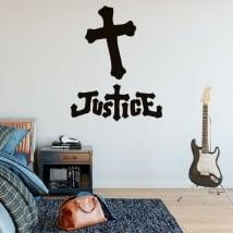 Vinyle et autocollants music band justice