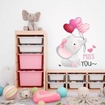 Vinyles et autocollants pour enfants l'éléphant miss you