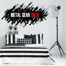 Vinyles décoratifs et autocollants jeu vidéo metal gear