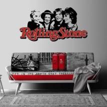 Vinyles et autocollants groupe de musique rolling stone
