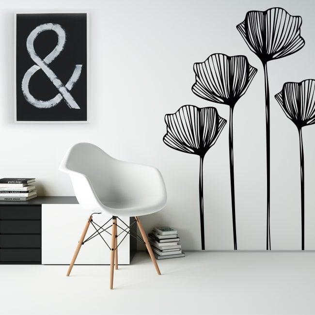 Autocollants en vinyle fleurs à décorer