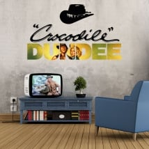 Vinyles décoratifs crocodile dundee