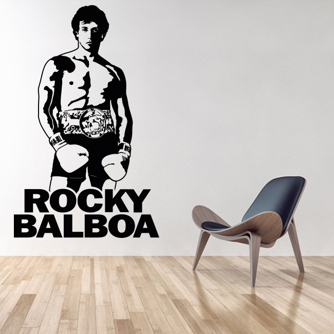 Vinyles décoratifs et autocollants rocky balboa