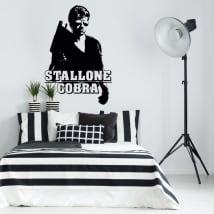 Vinyles décoratifs sylvester stallone cobra