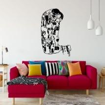 Vinyles et autocollants gustav klimt oeuvre d'art le bisou