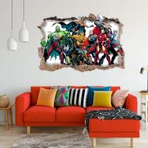Vinyle décoratif 3d marvel super-héros yellowjacket