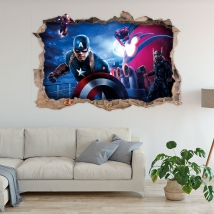 Vinyle décoratif 3d marvel super-héros yellowjacket
