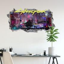 Vinyles mur de trou 3d cyberpunk 2077