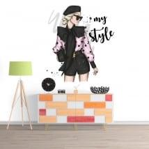 Vinyles décoratifs femme my style