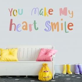 Vinyles phrase anglaise you make my heart smile