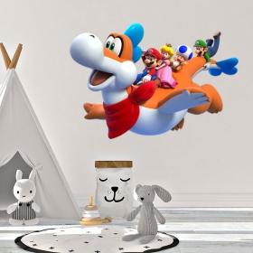 Vinyle décoratif mario bros et sonic jeux olympiques