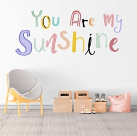 Vinyles phrase anglaise you are my sunshine