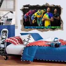Autocollant vinyle neymar fortnite