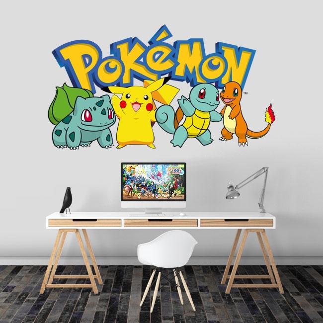 Stickers démarreurs pokémon