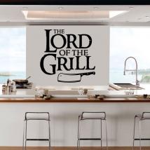 Vinyles et autocollants phrase le seigneur du grill