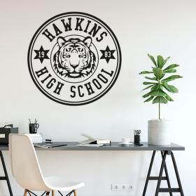 Vinyles décoratifs stranger things hawkins high school