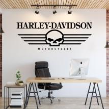 Vinyles décoratifs crâne de harley davidson