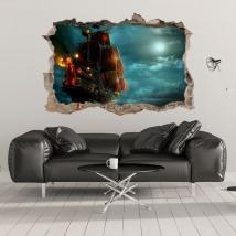 Vinyles décoratifs et autocollants 3d pirates des caraïbes