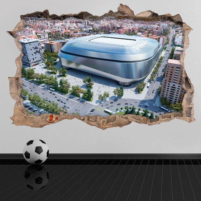 Vinyles 3d nouveau stade santiago bernabéu