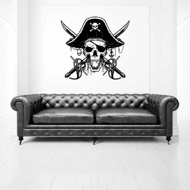 Vinyles le crâne pirates des caraïbes