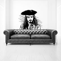 Vinyle et autocollants jack sparrow pirates des caraïbes