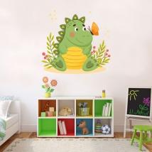 Vinyles pour enfants dinosaure et papillon