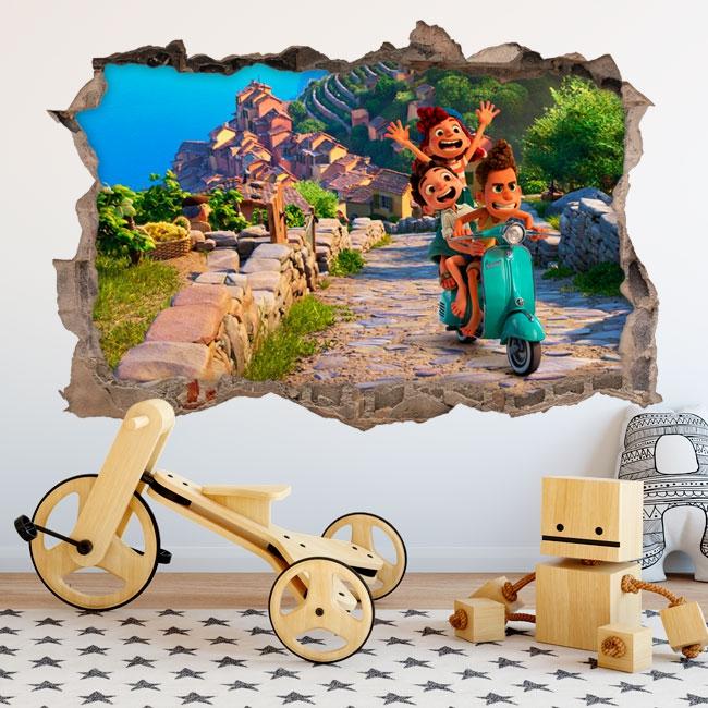 Vinyle 3d luca disney pixar