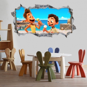 Vinyle décoratif 3d luca disney pixar