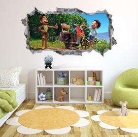 Vinyles trou mur 3d luca disney pixar