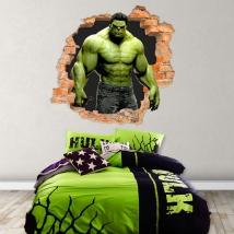 Vinyles 3d mur de trou hulk